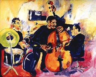 1996 Stafford James Project, Jazz Club Hannover  (Acrylic by 